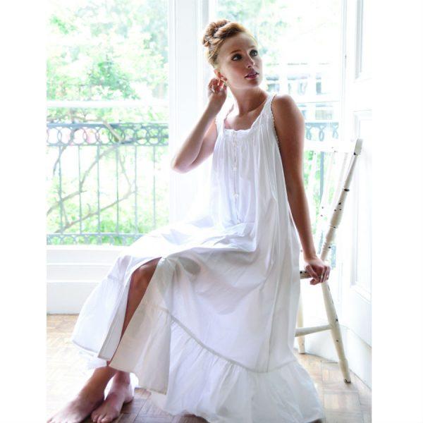 Sleeveless Pure Cotton Nightdress