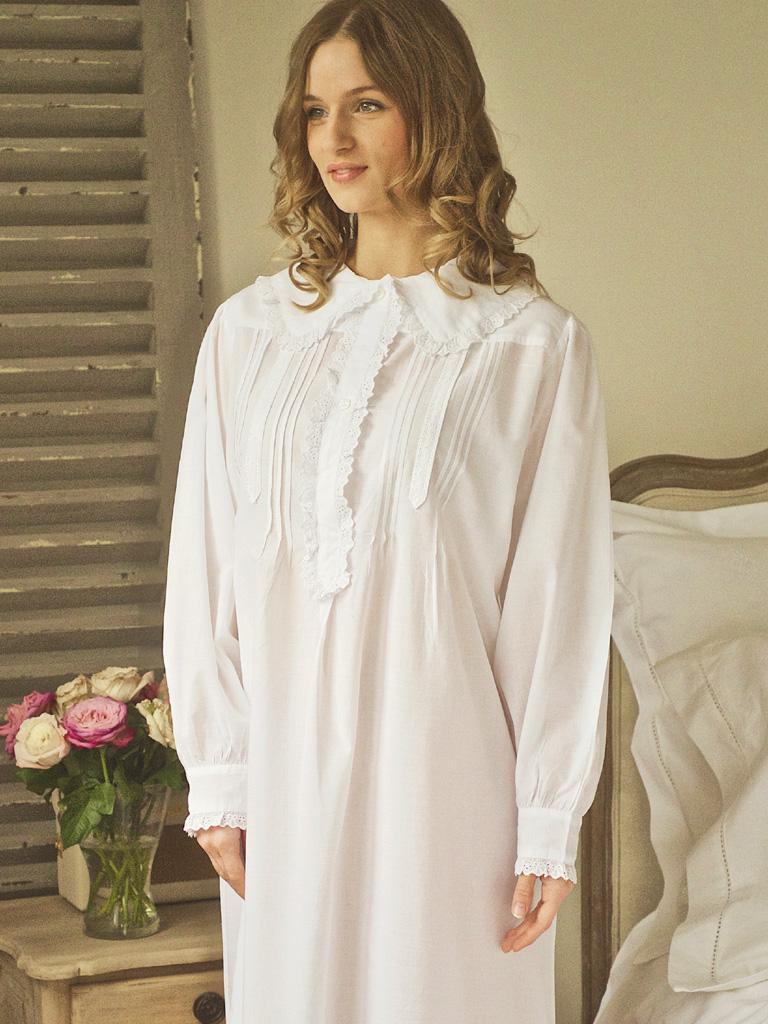 Victorian Nightdress | White Nightie Victorian Nightdresses| Pure ...