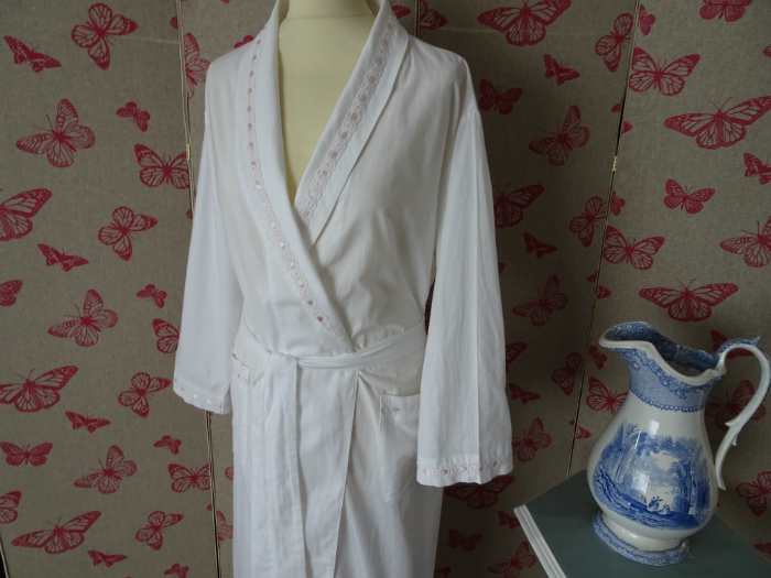 Martha Dressing Gown   White Nightie Victorian Dressing gown