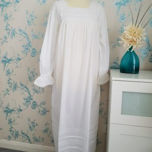 Square Necked Soft Cotton Nightgown